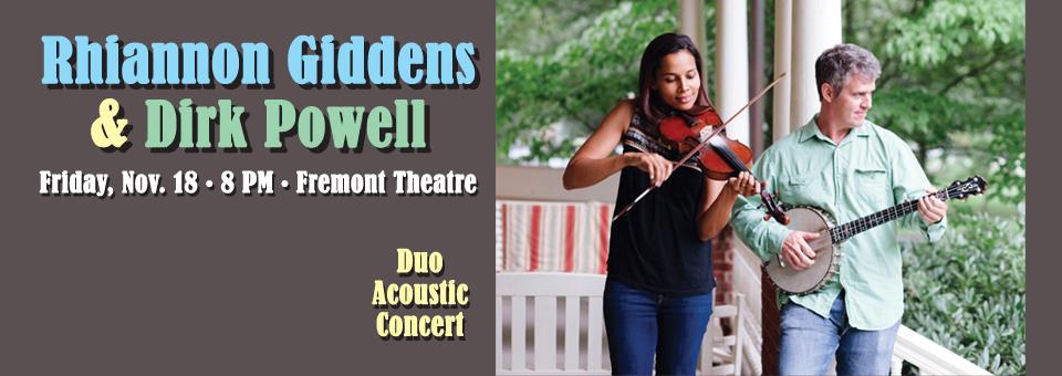 Rhiannon Giddens & Dirk Powell Acoustic Duo